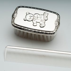 Empire Sterling Accessories - Empire Silver, Sterling Teddy Brush & Comb Set
